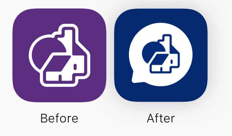 before after app icons